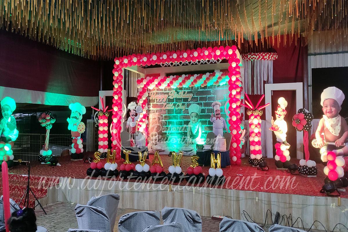little chef theme birthday party at sri sai convention bhubaneswar odisha 5
