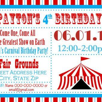 dofort entertainment birthday party invitation card